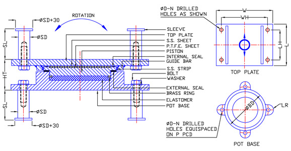 Ptfe pot bearings bearing manufacturer